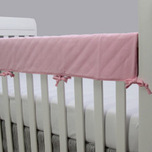 CHEVRON PINK Baby Crib Rail Protector - Solid Pink