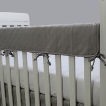 DOVE Baby Crib Rail Protector - Solid Grey