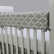 KEEWEE Baby Crib Rail Protector - Grey Trellis