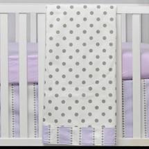 "RIBBON LILAC ""Classic"" Baby Crib Blanket"
