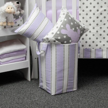 RIBBON LILAC Soft Nursery Hamper - Lilac Stripe with White