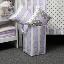 RIBBON LILAC Soft Nursery Hamper - Lilac Stripe with White
