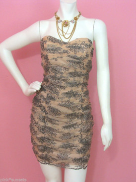 Betsey Johnson CHANTILLY SHEATH DRESS Lace Prom Homecoming Party Cocktail