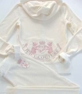 Juicy Couture Angel Velour Old School Scotty Tracksuit Hoodie Pant