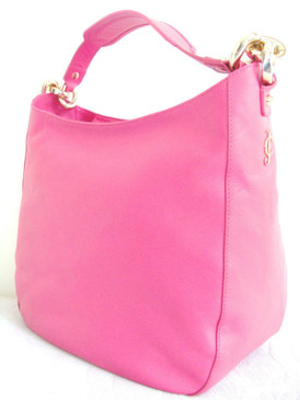 Juicy Couture Frankie Leather Hobo XL Pink Shoulder Bag