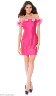 BETSEY JOHNSON SABLE SLIM SHEATH DRESS PINK PROM PARTY COCKTAIL EVENING