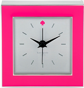 Kate Spade New York Pink Cross Point Clock