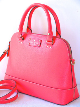 Kate Spade Wellesley Small Rachelle Satchel Bag Hot Rose