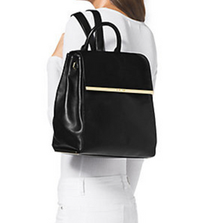 MICHAEL Michael Kors Lana Backpack Black Calf Hair Leather Bag