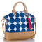 BRAHMIN Large Duxbury Satchel Blue Americana Bag