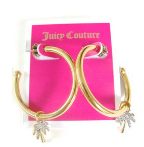 Juicy Couture Palm Tree Hoop Earrings