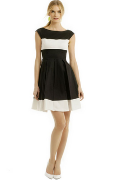 Kate Spade Adette Dress Paris Black and White