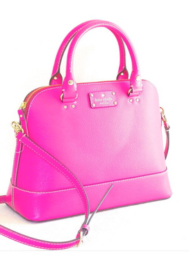Kate Spade Wellesley Small Rachelle Satchel Bag Pink Snap Dragon Bougainvillea