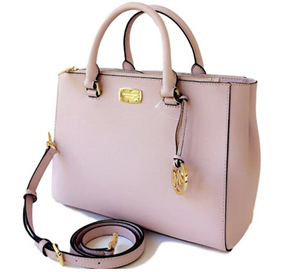 Michael Kors Kellen Medium Satchel Leather Bag Blossom Light Pink