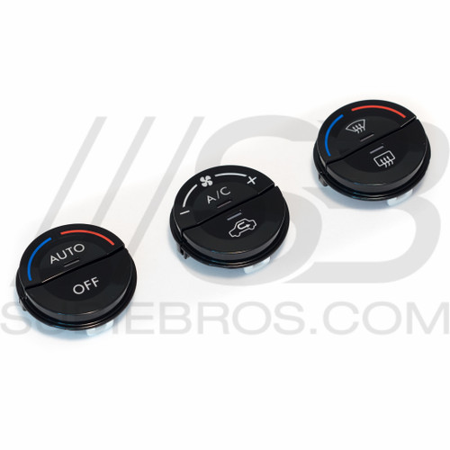 Subaru Gloss Black Climate Control Button Set