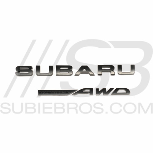 Subaru Trunk Letter Set