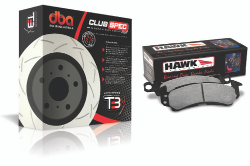 DBA Rotor + Hawk Pad Brake Combo Kit
