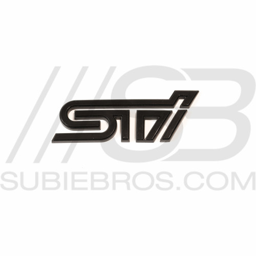 STI Trunk Emblem - Black