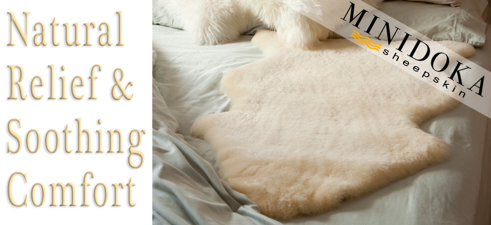natural relief from pressure sores with sheepskin rug