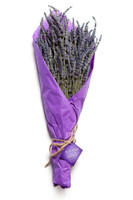 Ketchum Hollow dried lavender wrapped in lavender tissue paper with brand tag, so you know you're getting the very best!