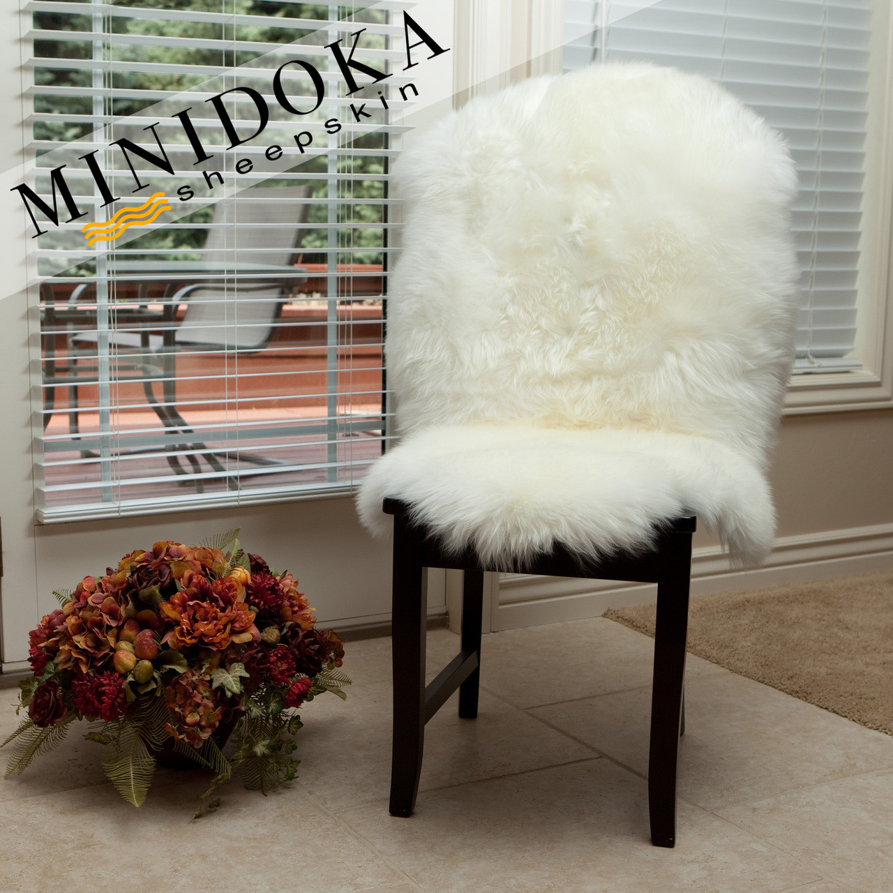 Single Pelt Ivory Sheepskin Rug from Minidoka Sheepskin