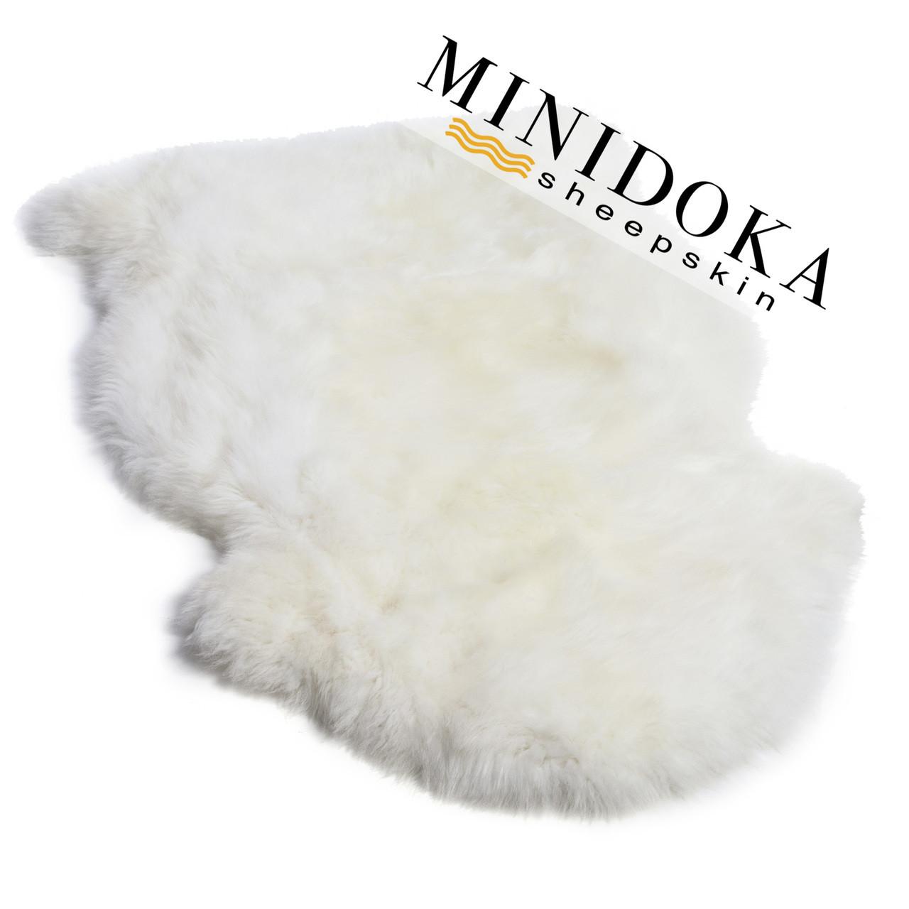 Single pelt ivory sheepskin rug premium grade from Minidoka Sheepskin