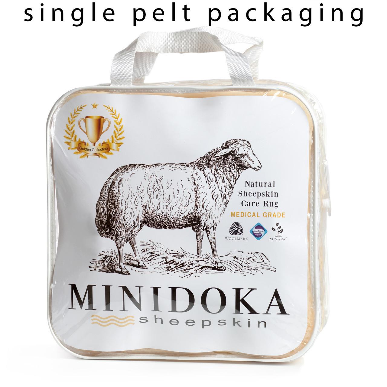Medical sheepskin underlay bed pad by Minidoka Sheepskin.