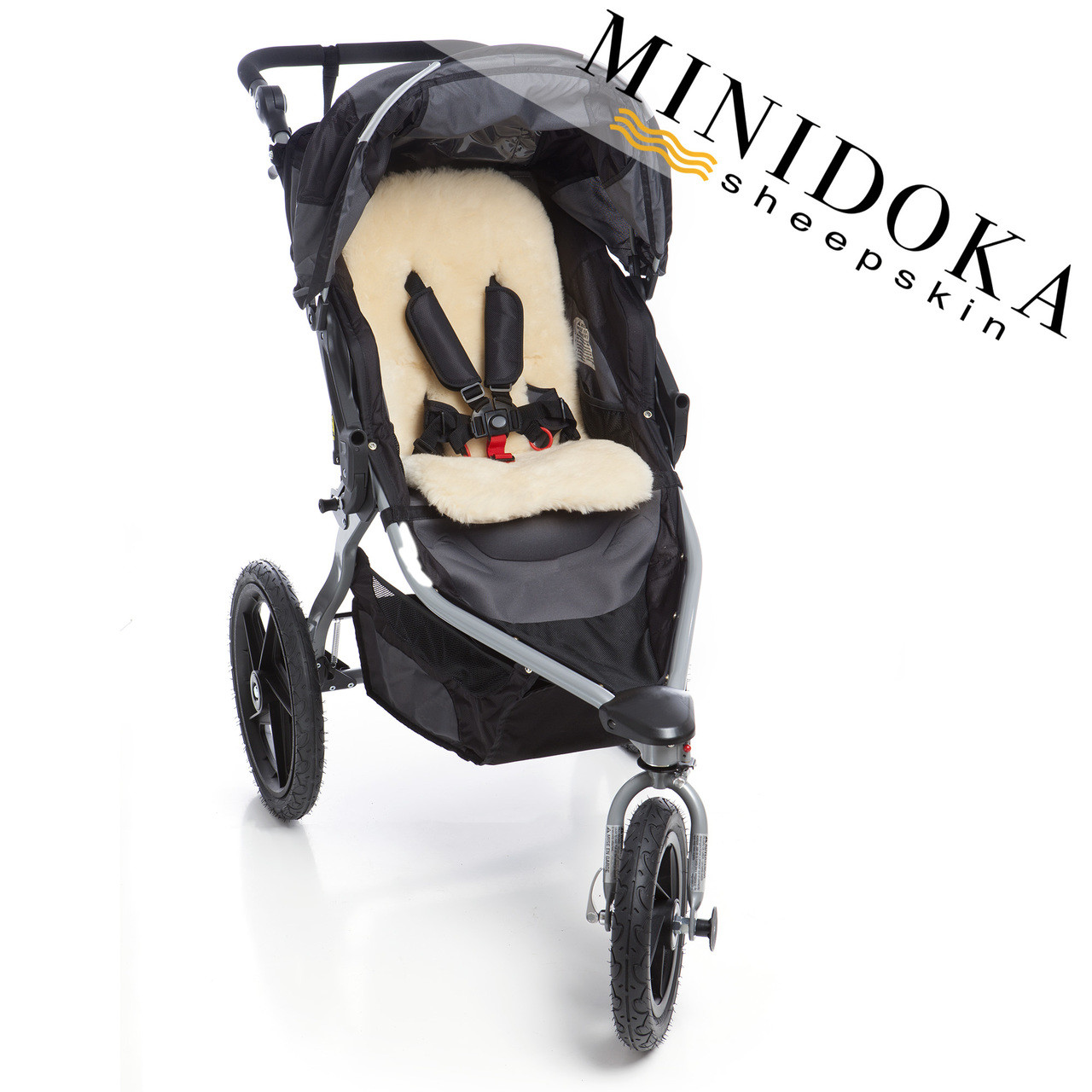 Lambskin stroller liner for universal fit in BOB, Graco, and more.