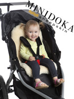 Sheepskin stroller liner, soft lambskin baby seat pad