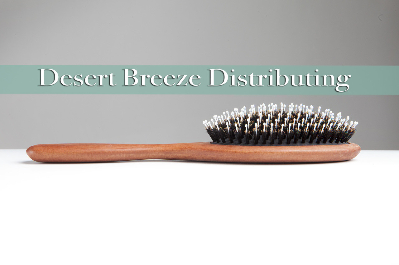 Boar bristle nylon pin combination hair brush made in Germany