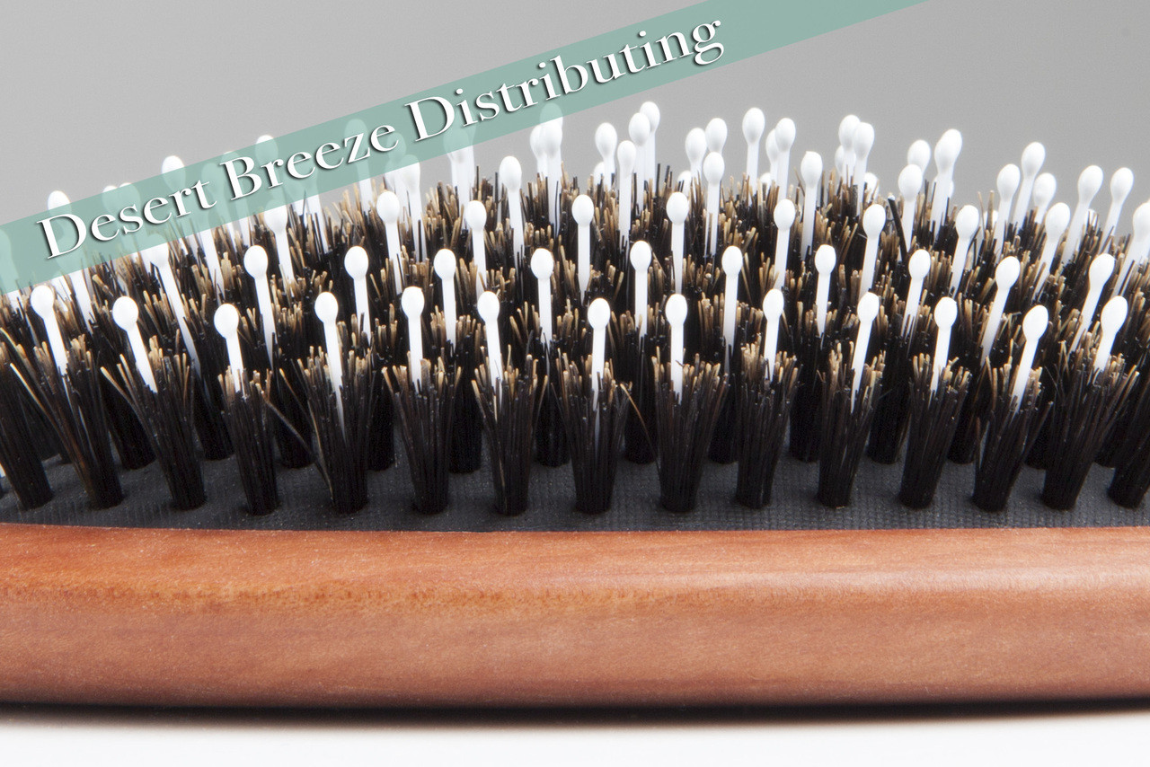 Boar bristle and nylon pin hair brush made in Germany