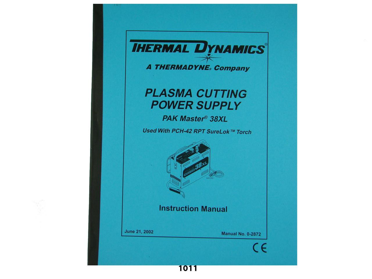 Thermal Dynamics Pakmaster 38 Xl Plasma Cutter T