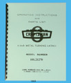 "Sears Craftsman 6"" Lathe 101.21270 Operating Instructions & Parts List Manual Cover"