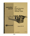 Rockwell Panel Saw Cover 888