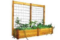 "Gronomics-Raised-Garden-Bed-34x95x19-with-95x80""H-Trellis-Kit"
