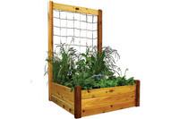 "Gronomics-Raised-Garden-Bed-48x48x19-with-48x80""H-Trellis-Kit"