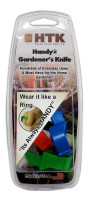 HTK Handy Gardener's Knife for Gardening 3 Pack Plastic Ring Knife