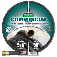 Flexon-5/8in-x-50ft-Hot-Water-Rubber-Garden-Hose