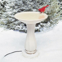 "API-20""-Beige-Heated-Birdbath-On-Pedestal"