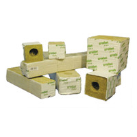 Hydrofarm Delta 10G Rockwool Block 4x4x4 6 Blocks Per Strip