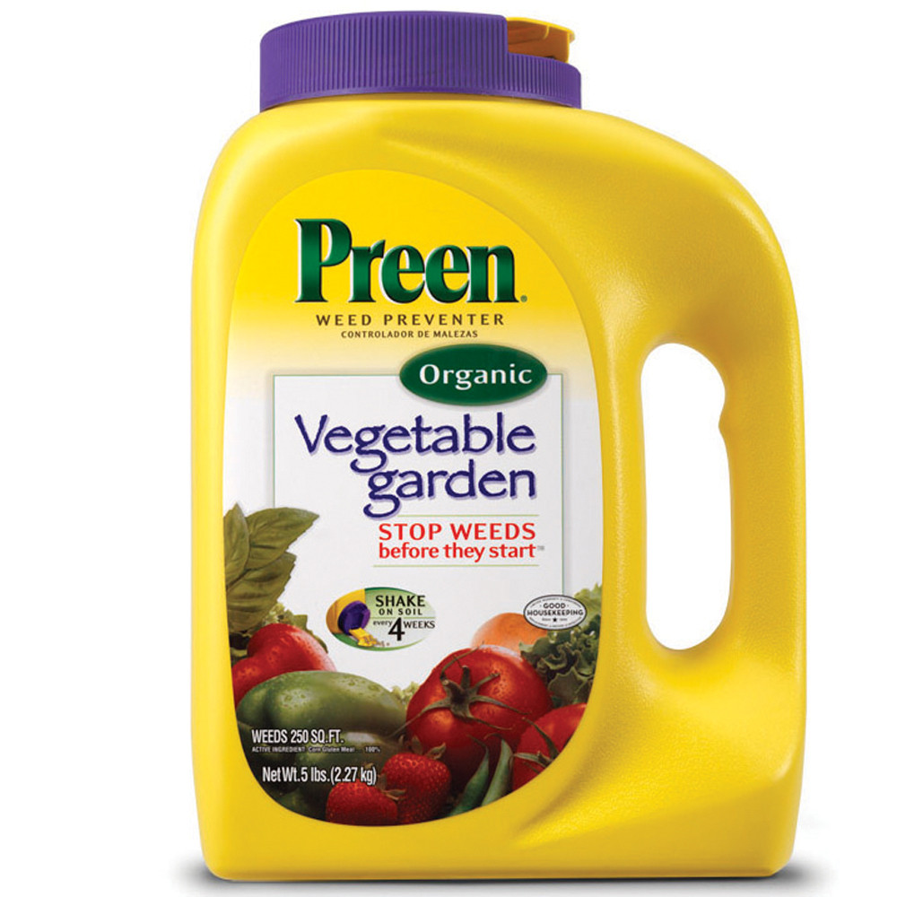 Preen garden weed preventer plus plant food 16 pound for How to use preen in vegetable garden