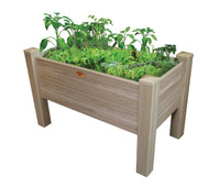 "Gronomics-Vinyl-Elevated-Garden-Bed-24x48x32---12""D"