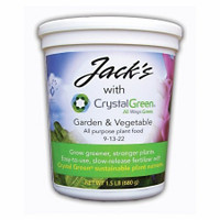 Jacks with Crystal Green Garden & Vegetable 1.5lb 9-13-22 All Purpose Plant Food