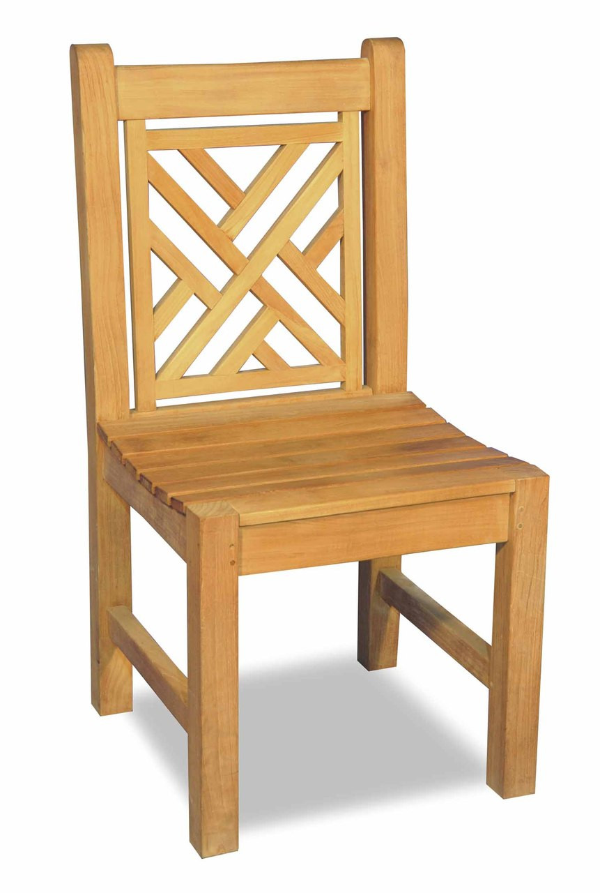 Home Outdoor Living Outdoor Furniture Chairs Teak Chippendale Chair
