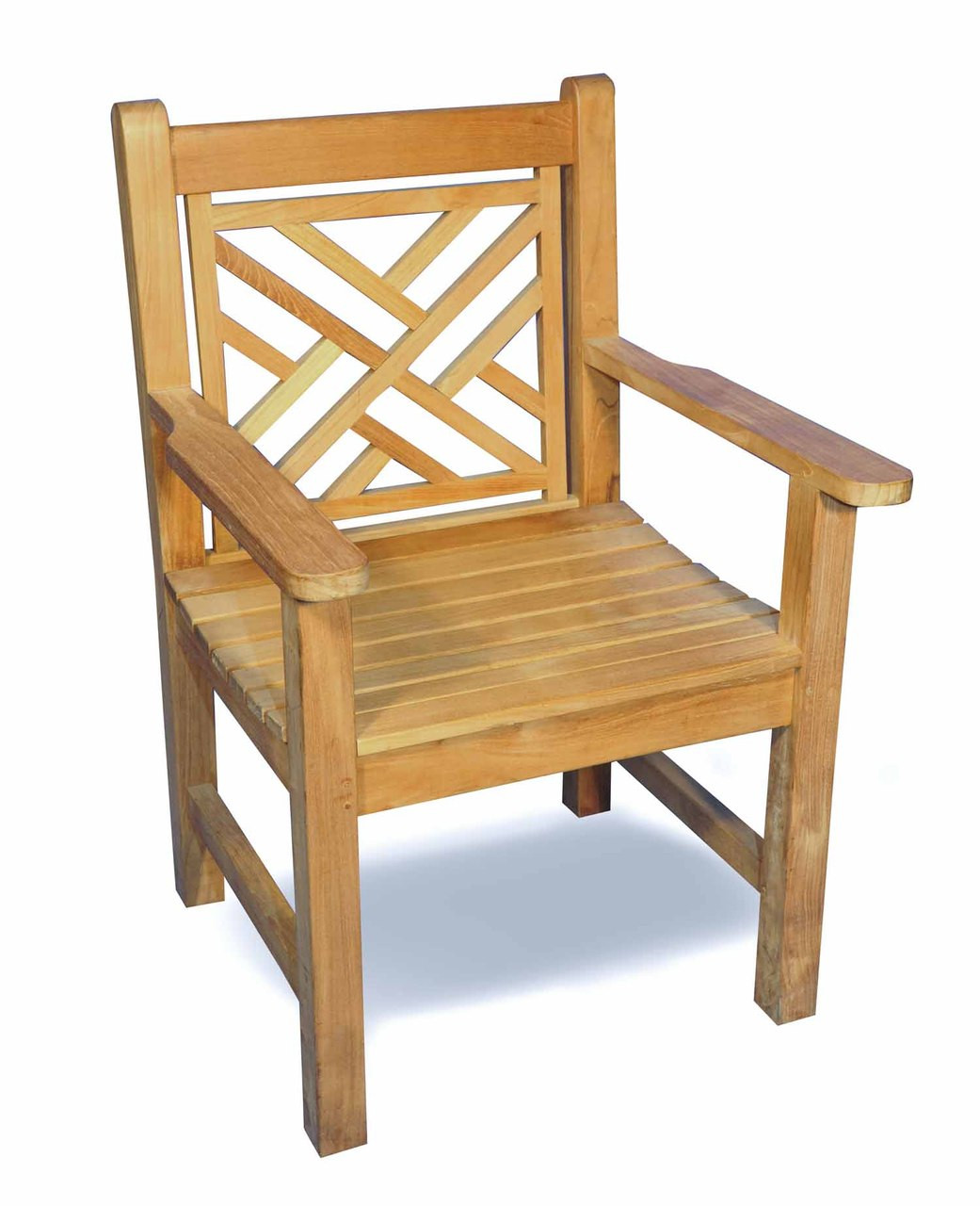 Home Outdoor Living Outdoor Furniture Chairs Teak Chippendale Chair By