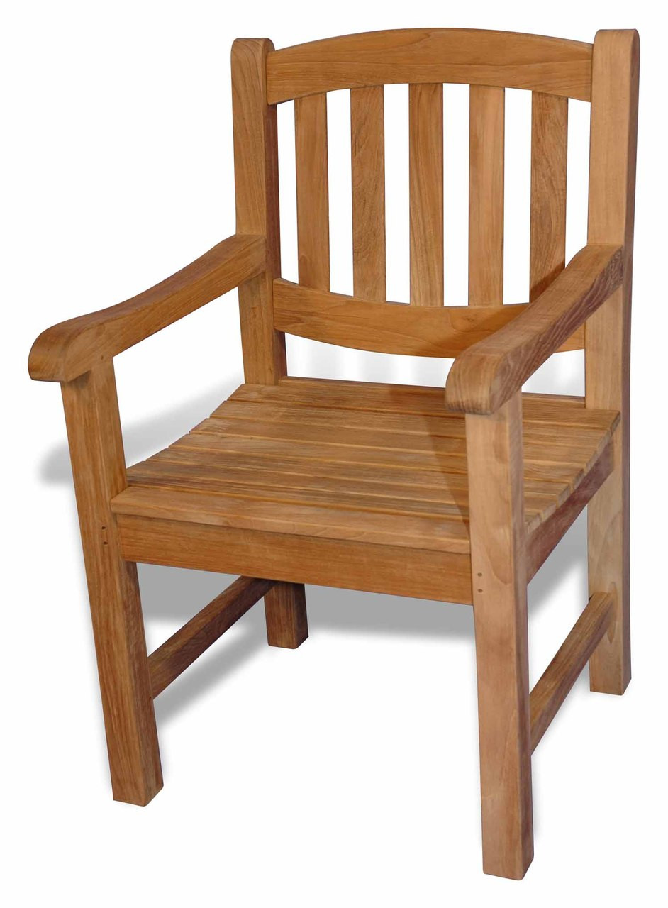 Teak boston single oval chair w arms by regal teak great for Outdoor furniture big w