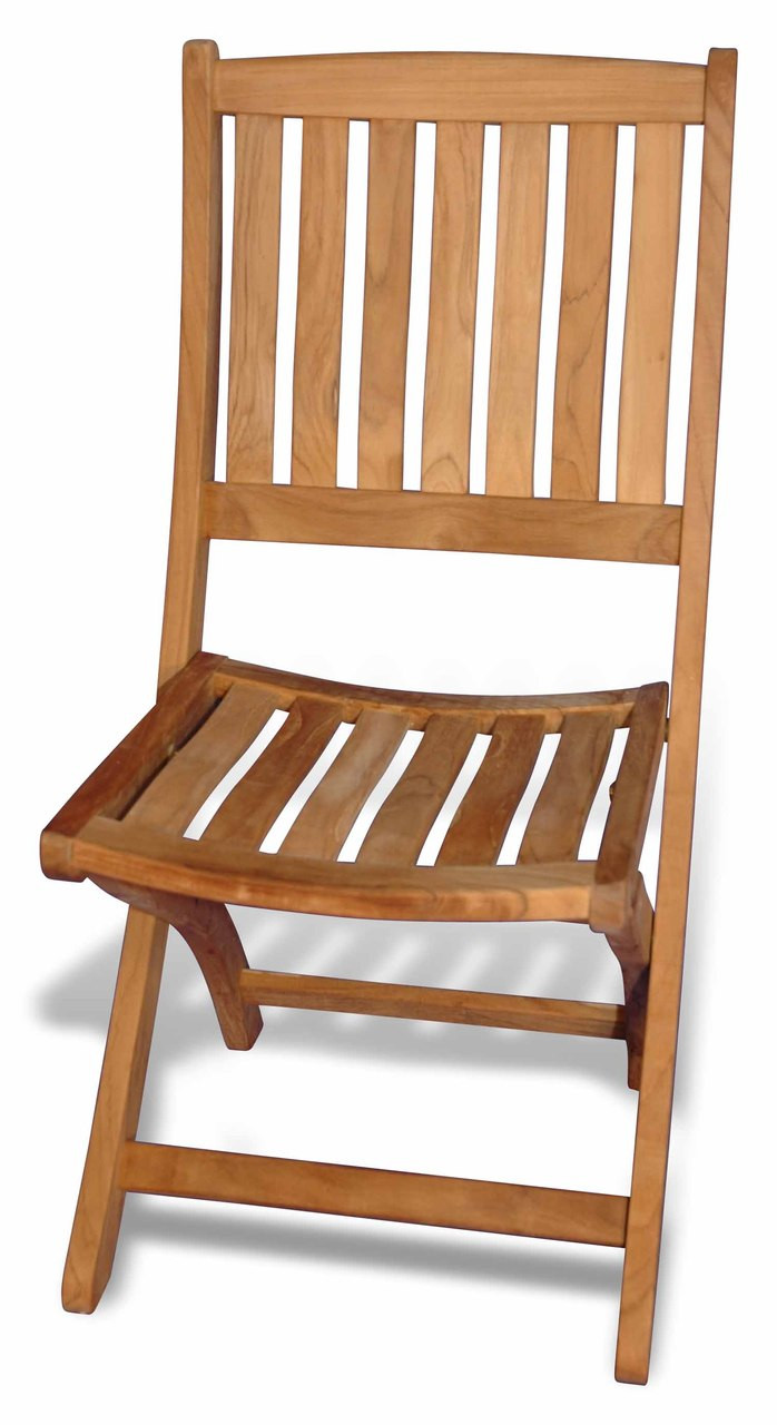 Teak Providence Folding Chair Without Arms By Regal Teak Great Garden Supply