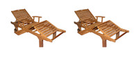 Teak Furniture PAIR  Sun Lounger