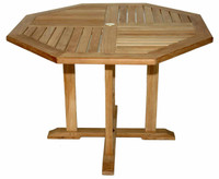 Teak Octagon Table, Dia 52in by Regal Teak