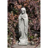 Campania Stone 14 inch madonna statue.